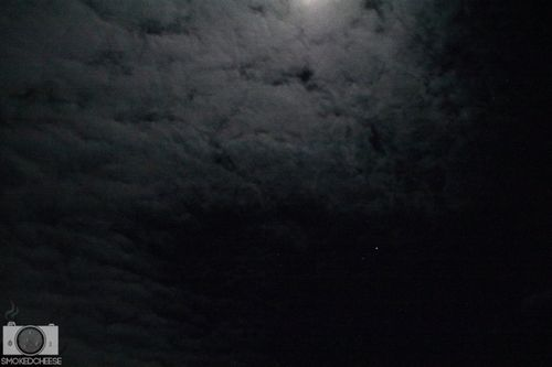Moon clouds 10-8-11